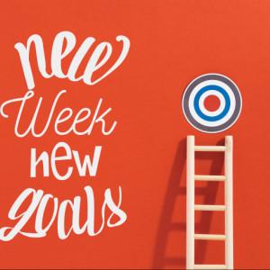 Tablou motivational - New week, new goals