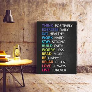 Tablou motivational - Positive advice