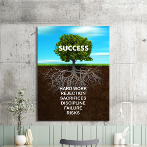 Tablou motivational - Success tree