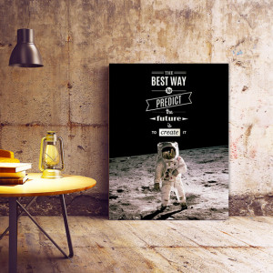 Tablou motivational - The best way to predict future (astronaut)