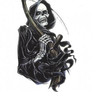 Tatuaj temporar -schelet- 20x15cm