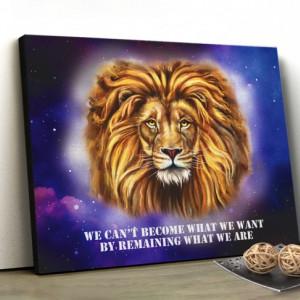 Tablou canvas motivational - Wise Lion