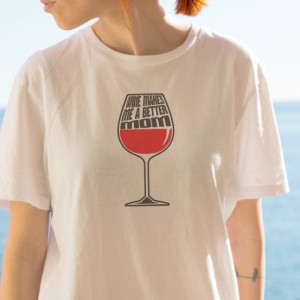 Imprimeu tricou WINE MOM