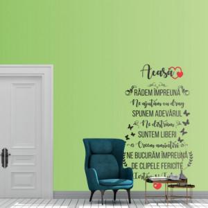 Acasa - sticker decorativ perete