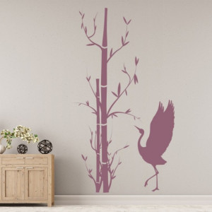 Bamboo Tree And Bird