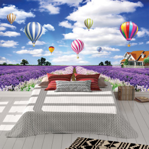 Foto tapet Balloons and flowers