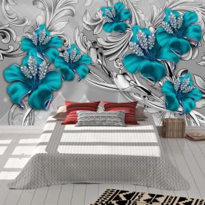 Foto tapet Blue flowers