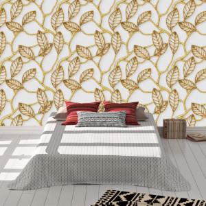 Foto tapet Golden leaves pattern
