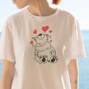 Imprimeu Tricou Dama Ursulet Indragostit