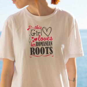 Imprimeu tricou ROMANIAN ROOTS