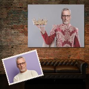 Portret personalizat cu poza ta - Rege