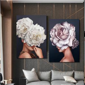 Set 2 Tablouri - Femei inflorate - floral women