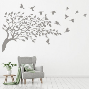 Sticker Bird Tree Branch