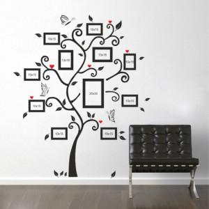 Sticker Copac cu Poze de Familie