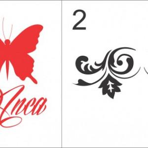 Sticker cu nume - Anca
