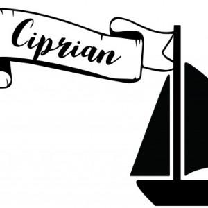 Sticker cu nume - Ciprian