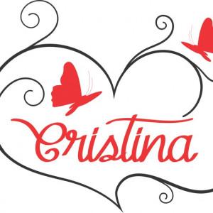 Sticker cu nume - Cristina