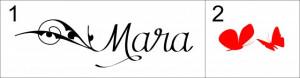 Sticker cu nume - Mara