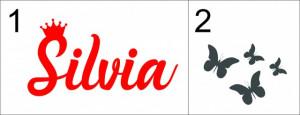 Sticker cu nume - Silvia