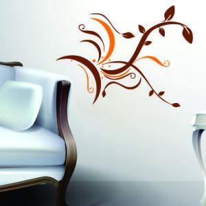 Sticker De Perete Abstract Floral 01