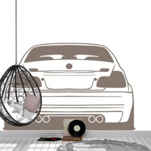 Sticker De Perete Auto Bmw Vedere Spate