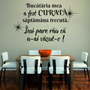 Sticker De Perete Bucatarie Curata