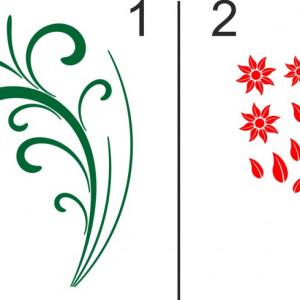 Sticker De Perete Buchet Cu 3 Flori