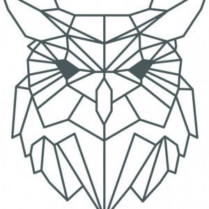 Sticker De Perete Bufnita Stilizata