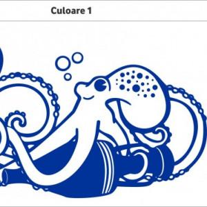 Sticker De Perete Caracatita (In Doua Culori)