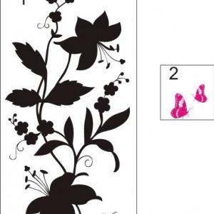 Sticker De Perete Crini Cu Fluturi
