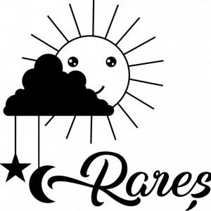 Sticker De Perete Cu Nume - Rares