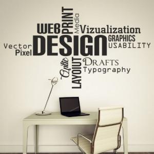 Sticker De Perete Design - Web - Print