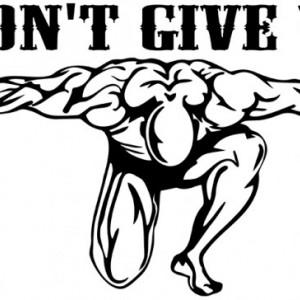 Sticker De Perete Don't Give Up