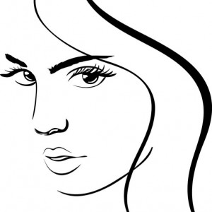 Sticker De Perete Face Girl 2