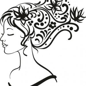 Sticker De Perete Fata Inflorata