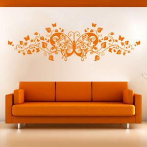 Sticker De Perete Fluture Floral 3