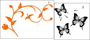 Sticker De Perete Fluturi Decorativi