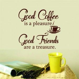 Sticker De Perete Good Coffee - Good Friends