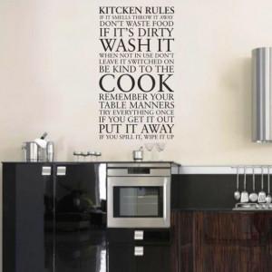 Sticker De Perete Kitchen Long Rules