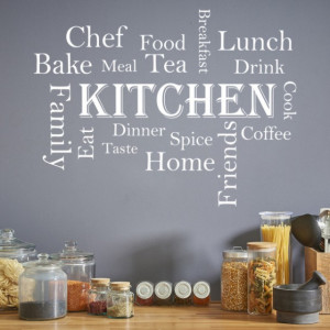 Sticker de Perete Kitchen Words