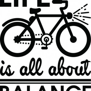 Sticker De Perete Life Is All About Ballance