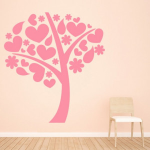 Sticker de Perete Love Heart Tree