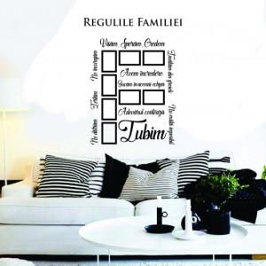 Sticker De Perete Regulile Familiei