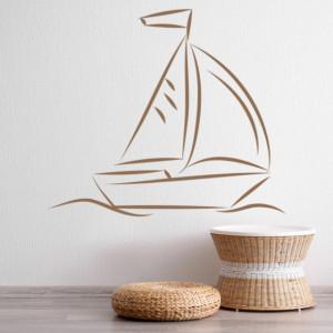 Sticker de Perete Sail Boat Sailing