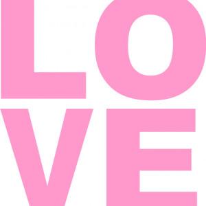 Sticker De Perete Simplu Love