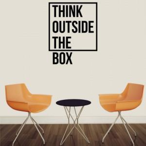 Sticker De Perete Think Outside The Box