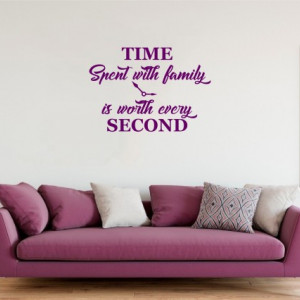Sticker De Perete Time Spent With Family