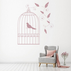 Sticker de Perete Vintage Bird Cage