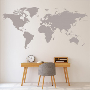 Sticker de Perete World Map Educational