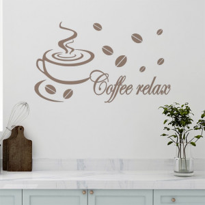 Sticker Decorativ de Perete Coffee Relax 02